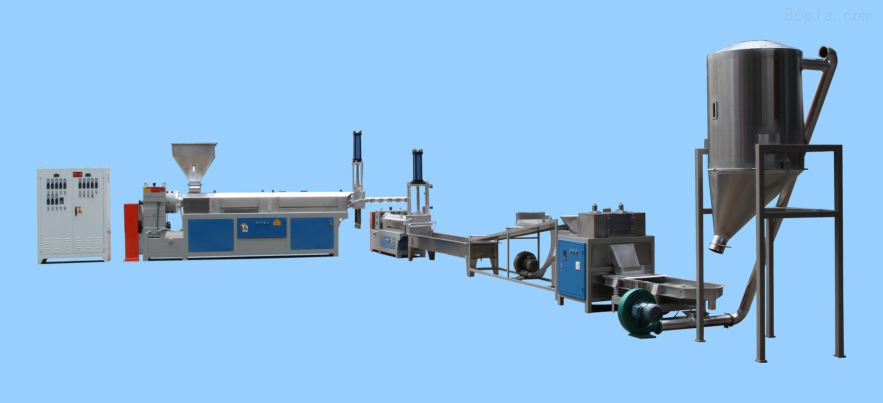 供应无锡塑料回收造粒机 高产能两阶塑料造粒机硬料片料再生造粒图片