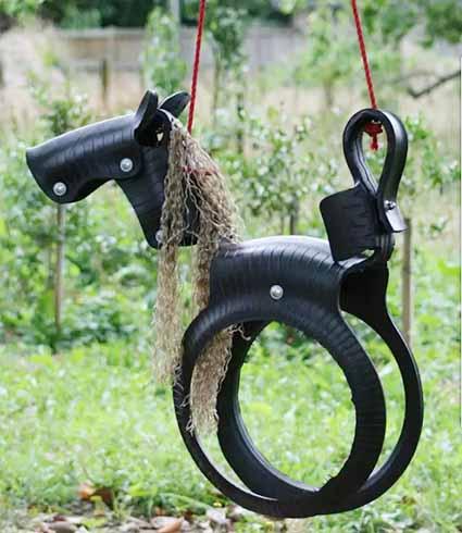 智慧隐于市 废旧轮胎回归公园创意十足